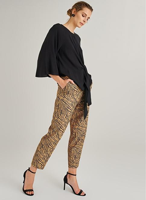 People By Fabrika Zebra Desenli Pantolon Camel